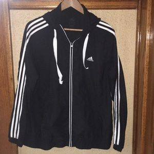 Adidas Full Zip Hooded Jacket